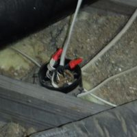 faulty wiring in attic